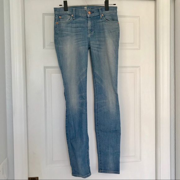 7 For All Mankind Denim - 7 for All Mankind Light Wash Skinny Jeans